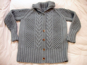 The Debbie Bliss Cabled Jacket - nearly done, until I realised there was a problem