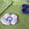 Jacket With Moss Stitch Bands - Debbie Bliss baby knits for beginners