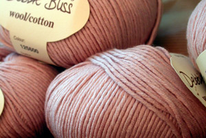 Debbie Bliss Wool Cotton in my favourite shade of pink