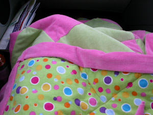 Isabelle's travel quilt. The journey to Adelaide - July 2005