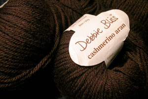 Debbie Bliss Cashmerino Aran in chocloate brown