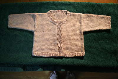 Jacket With Moss Stitch Bands 2
