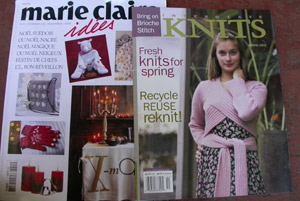 Marie Claire Idee Christmas 2004 and Interweave Knits 2005