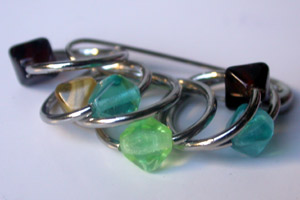 Stitch markers from Jennifer
