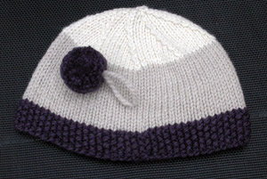 Moss stitch trim hat in Jo Sharp Silk Road Aran