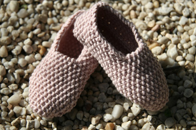 Debbie Bliss Moss Stitch Shoes