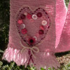Heart Scarf - A garter stitch scarf with decorative buttons