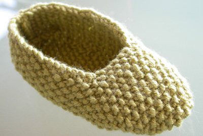 Debbie Bliss Moss Stitch Shoe