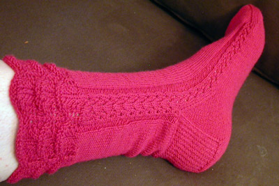 The first Spearfish sock, all done