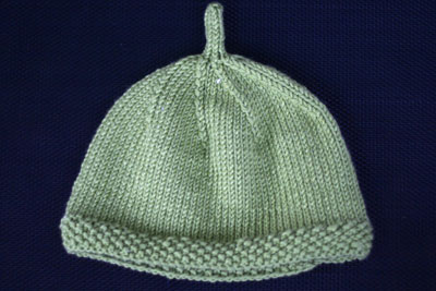 Simple Hat with Moss Stitch Band